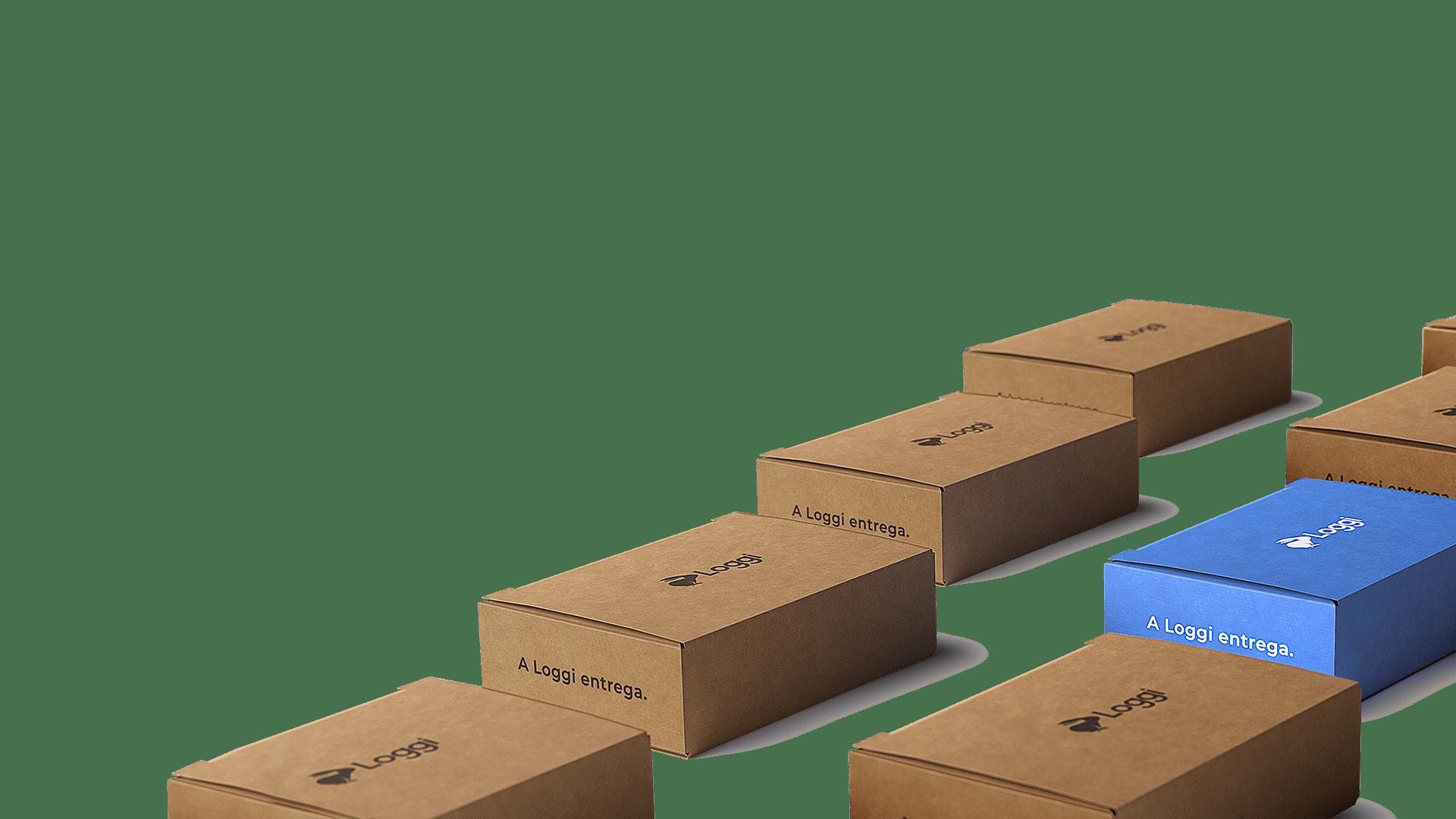 Caixas Loggi prontas para serem entregues para todoo Brasil